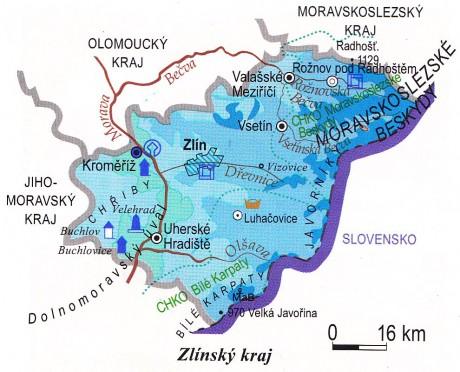 667210f8e42 ON-LINE PROCVIČOVÁNÍ - Fotoalbum - Kraje - Zlínský kraj - mapa